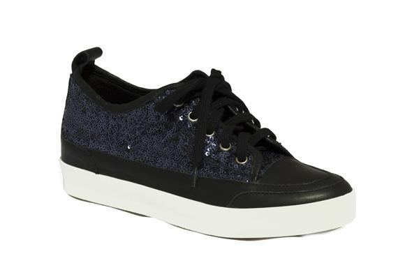 Zapato lentejuela azul